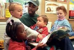 men in nursery